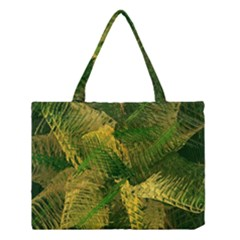 Green And Gold Abstract Medium Tote Bag by linceazul