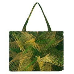 Green And Gold Abstract Medium Zipper Tote Bag by linceazul