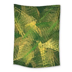 Green And Gold Abstract Medium Tapestry by linceazul