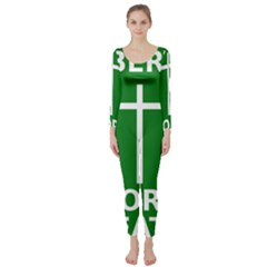 Battle Of Arklow Flag Long Sleeve Catsuit by abbeyz71
