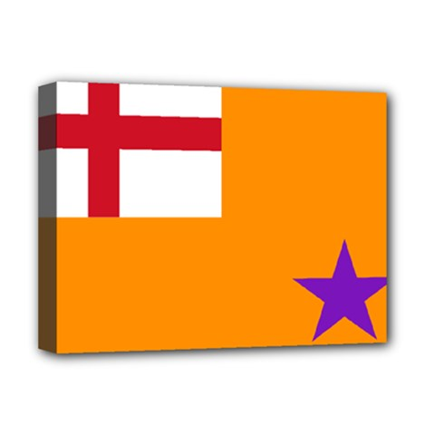 Flag Of The Orange Order Deluxe Canvas 16  X 12   by abbeyz71
