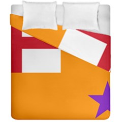 Flag Of The Orange Order Duvet Cover Double Side (california King Size) by abbeyz71