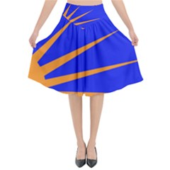 Sunburst Flag Flared Midi Skirt