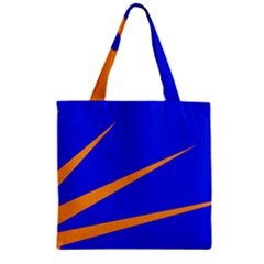 Sunburst Flag Zipper Grocery Tote Bag by abbeyz71
