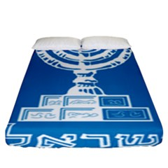 Emblem Of Israel Fitted Sheet (king Size) by abbeyz71