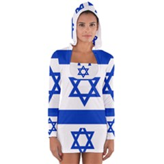 Flag Of Israel Women s Long Sleeve Hooded T Shirt by abbeyz71
