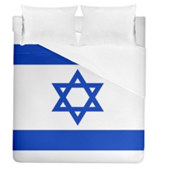 Flag Of Israel Duvet Cover (queen Size) by abbeyz71