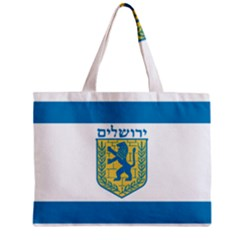 Flag Of Jerusalem Zipper Mini Tote Bag by abbeyz71