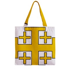 Jerusalem Cross Zipper Grocery Tote Bag by abbeyz71