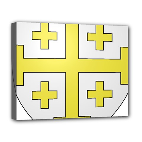 The Arms Of The Kingdom Of Jerusalem Deluxe Canvas 20  X 16   by abbeyz71