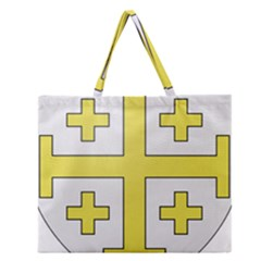 The Arms Of The Kingdom Of Jerusalem Zipper Large Tote Bag