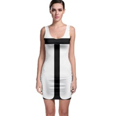 Anchored Cross  Sleeveless Bodycon Dress by abbeyz71