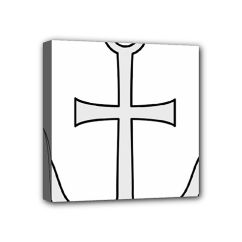 Anchored Cross  Mini Canvas 4  X 4  by abbeyz71