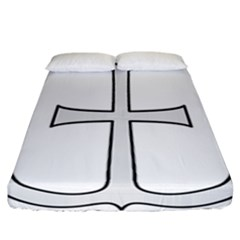 Anchored Cross  Fitted Sheet (california King Size) by abbeyz71