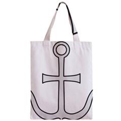Anchored Cross  Zipper Classic Tote Bag by abbeyz71