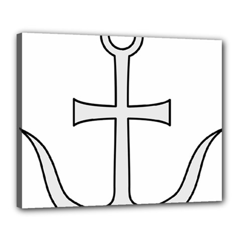 Anchored Cross Canvas 20  X 16  by abbeyz71