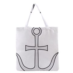 Anchored Cross Grocery Tote Bag by abbeyz71