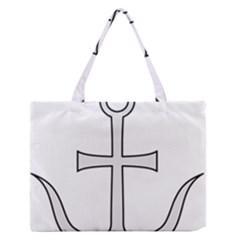 Anchored Cross Medium Zipper Tote Bag by abbeyz71