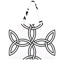 Carolingian Cross Zipper Large Tote Bag