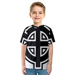 Celtic Cross Kids  Sport Mesh Tee by abbeyz71