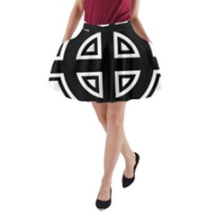 Celtic Cross A Line Pocket Skirt by abbeyz71