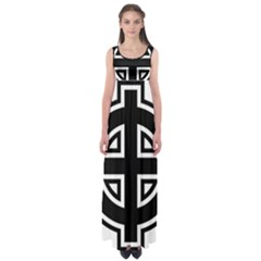 Celtic Cross Empire Waist Maxi Dress by abbeyz71