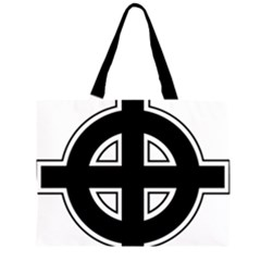 Celtic Cross Zipper Large Tote Bag