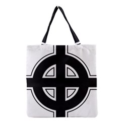 Celtic Cross Grocery Tote Bag by abbeyz71