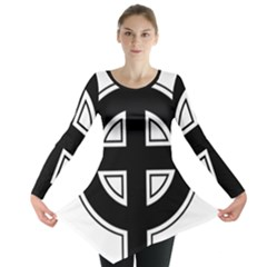 Celtic Cross Long Sleeve Tunic  by abbeyz71