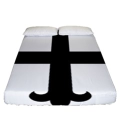 Cross Fleury  Fitted Sheet (queen Size) by abbeyz71