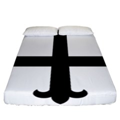 Cross Fleury  Fitted Sheet (california King Size) by abbeyz71