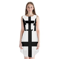 Cross Fleury  Sleeveless Chiffon Dress