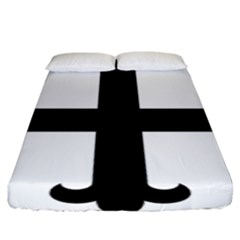 Cross Fleury Fitted Sheet (king Size) by abbeyz71