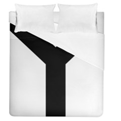 Forked Cross Duvet Cover (queen Size) by abbeyz71