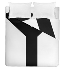 Forked Cross Duvet Cover Double Side (queen Size) by abbeyz71
