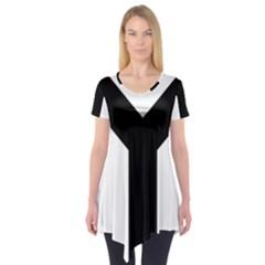 Forked Cross Short Sleeve Tunic  by abbeyz71