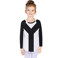 Forked Cross Kids  Long Sleeve Tee by abbeyz71