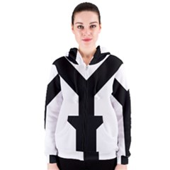 Forked Cross Women s Zipper Hoodie by abbeyz71