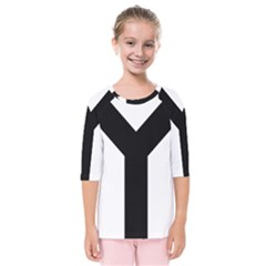 Forked Cross Kids  Quarter Sleeve Raglan Tee by abbeyz71