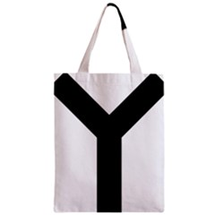 Forked Cross Zipper Classic Tote Bag by abbeyz71