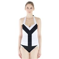 Forked Cross Halter Swimsuit by abbeyz71