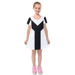 Forked Cross Kids  Short Sleeve Velvet Dress by abbeyz71