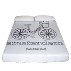 Amsterdam Fitted Sheet (queen Size) by Valentinaart