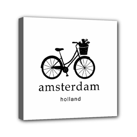 Amsterdam Mini Canvas 6  X 6  by Valentinaart