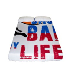 Basketball Is My Life Fitted Sheet (full/ Double Size) by Valentinaart