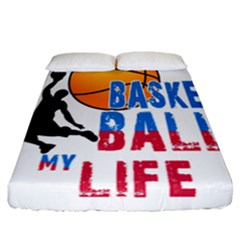 Basketball Is My Life Fitted Sheet (california King Size) by Valentinaart