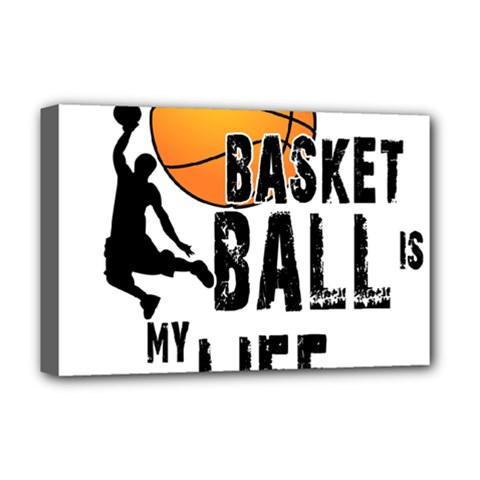 Basketball Is My Life Deluxe Canvas 18  X 12   by Valentinaart