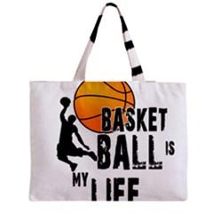 Basketball Is My Life Medium Tote Bag by Valentinaart