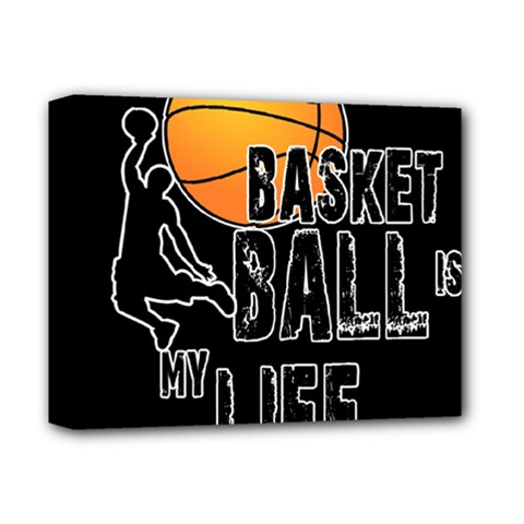 Basketball Is My Life Deluxe Canvas 14  X 11  by Valentinaart