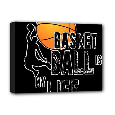 Basketball Is My Life Deluxe Canvas 16  X 12   by Valentinaart
